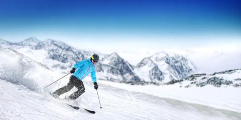 Garden Poster Winter sports winter skier