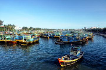 Boat of fishermen, Vietnam
