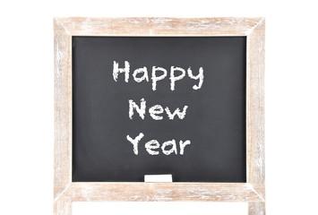 Frohes Neues Jahr auf Schultafel