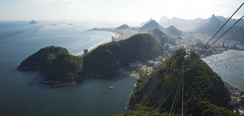 Wall Mural - Aerial panorama of Rio de Janeiro from Sugarloaf mountain, Brazil