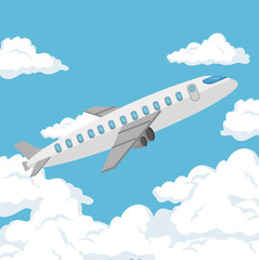 airplane travel insurance service concept