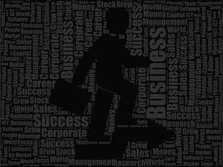 business man word cloud design