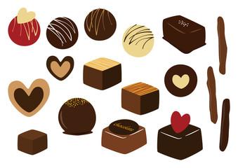 チョコレート イラストセット