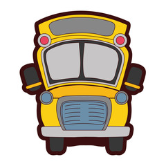 full color school bus transportation to education travel