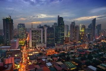 Manila evening skyline, Philippines