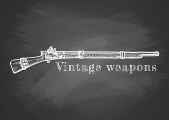 Vintage weapon poster.