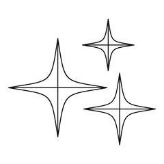 Stars icon, outline style