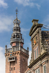 Historic tower and waag building in Monnickendam