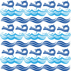 different blue shape waves pattern background