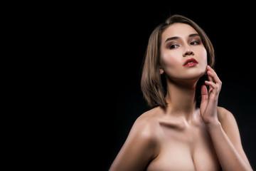 Beautiful big breasted mixed asian-caucasian race girl.