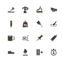 Glue icons. Perfect black pictogram on white background. Flat simple vector icon.