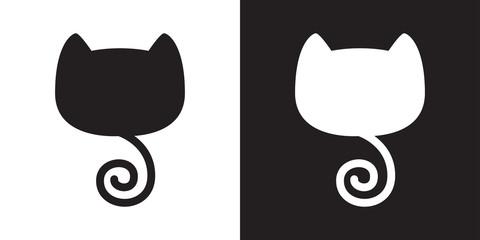 cat vector kitten tail icon logo cartoon illustration character