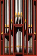 Prospekt Flentrop-Orgel Ausschnitt
