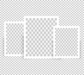 Realistic Blank Photo Frame brochure mockup cover template