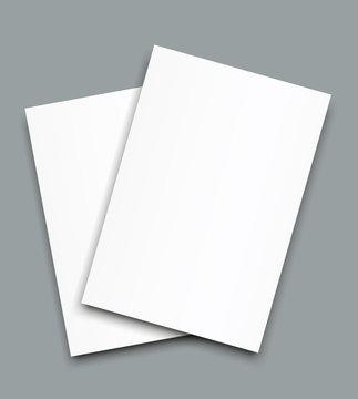 Blank Bi fold brochure mockup cover template