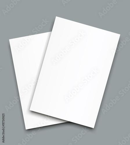 Blank Bi fold brochure mockup cover template\