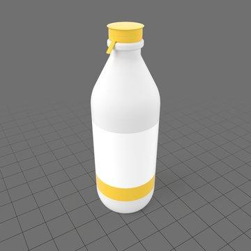 Tall milk bottle