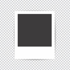 Photo frame on a transparent background. Blank photo frames