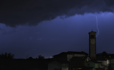 lightning in village