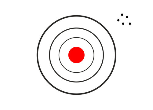 Target miss concept icon