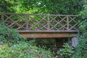 Pays de la Loire - Vendée - Luçon - Jardin public Dumaine - Petit pont de bois