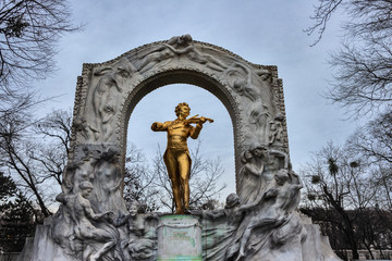 Johann Strauus Denkmal Wien Stadtpark