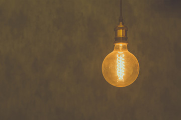 Vintage light bulb background