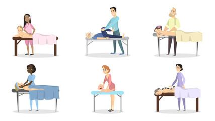 Massage therapy set.