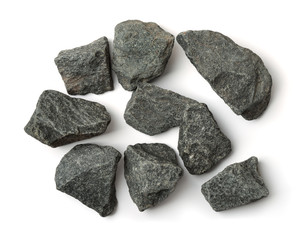 Top view of crushed granite stones