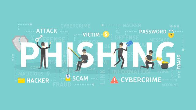 Phishing concept illustration.