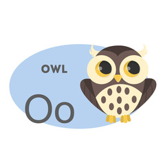 Owl on alphabet.