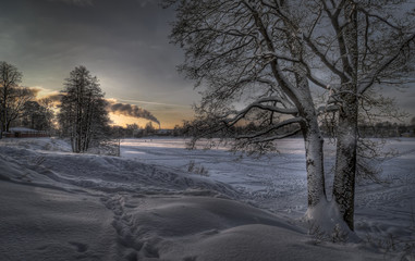 Natural beauty of winter