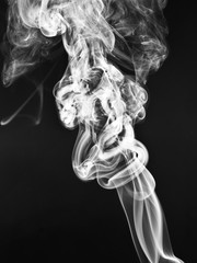 The elegant patterns and shapes of smoke