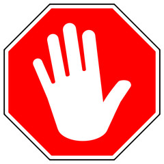 osn3 OctagonSignNew osn - Adblock / Red Stop Road Sign With Hand / stop gesture - #metoo - octagon xxl g5796