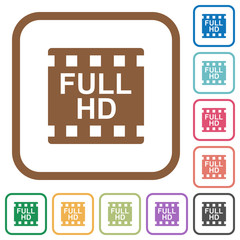 Full HD movie format simple icons
