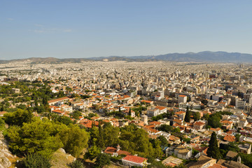 The Athens cityscape.