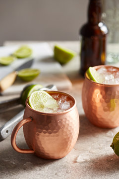 Moscow mule cocktails.