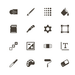 Image icons. Perfect black pictogram on white background. Flat simple vector icon.