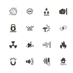 Influence icons. Perfect black pictogram on white background. Flat simple vector icon.