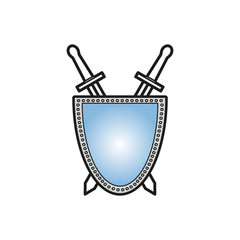 Sword with shield icon