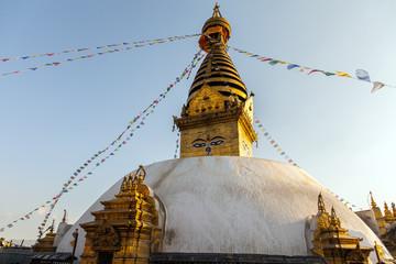 Swayambhunath Stupa - the holiest stupa of tibetan buddhism (vajrayana). Kathmandu, Nepal