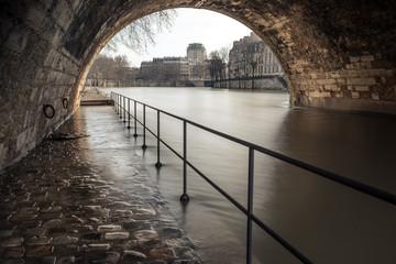 inondation de la Seine à Paris