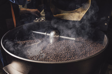 Coffee Grounds at Roaster