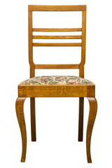 Vintage Art deco Chair isolated on white background