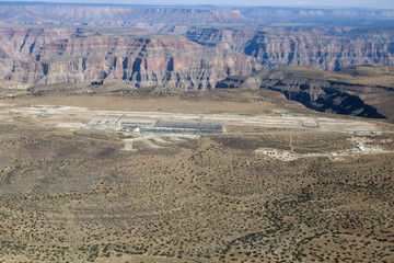 The Grand Canyon West airport in the desert of Arizona