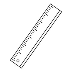 Ruler icon, outline style