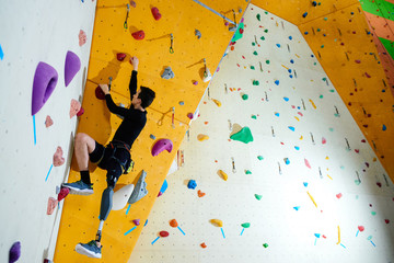 Handicapped climber breaking barriers
