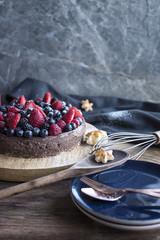 Fresh Berry Chocolate Cheesecake
