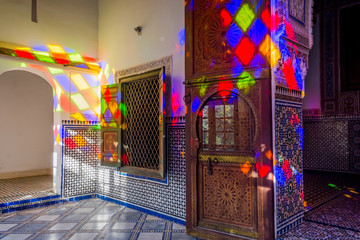 Light reflection, Bahia palace, Marrakech