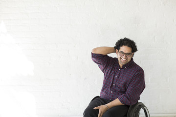 Portrait of a man in a wheel chair